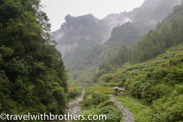 Hunan Province, Dehang Village - path to liusha and 9 dragons falls