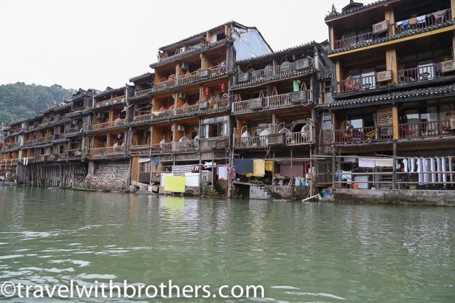 Fenghuang, stilt houses lining Tuojiang River
