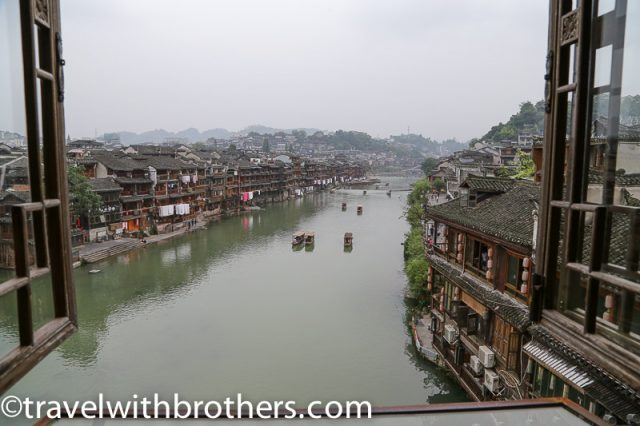 Fenghuang, view from the 2nd floor of the bridge