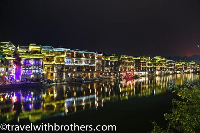 Fenghuang at night