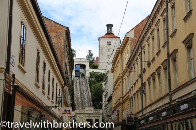 Zagreb, Lotrscak Tower and the old funicular