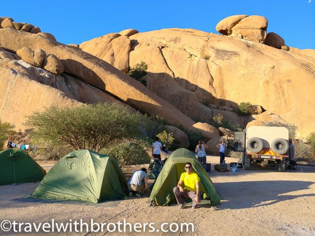 Namibia, Camping at Spitzkoppe