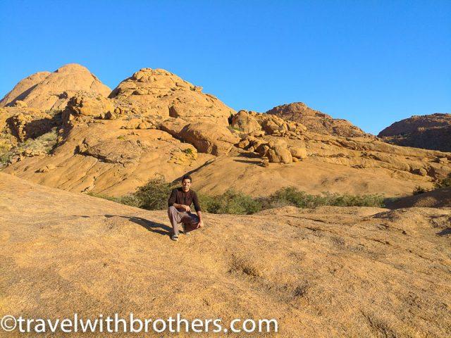Namnia, Spitzkoppe - On the top of the main Bushman Paradise hike