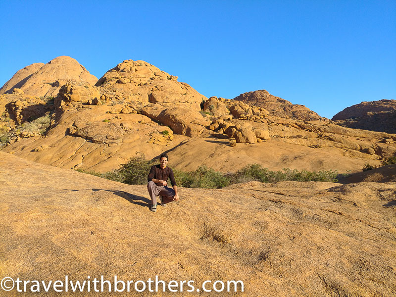 Namibia, Spitzkoppe - On the top of the main Bushman Paradise hike