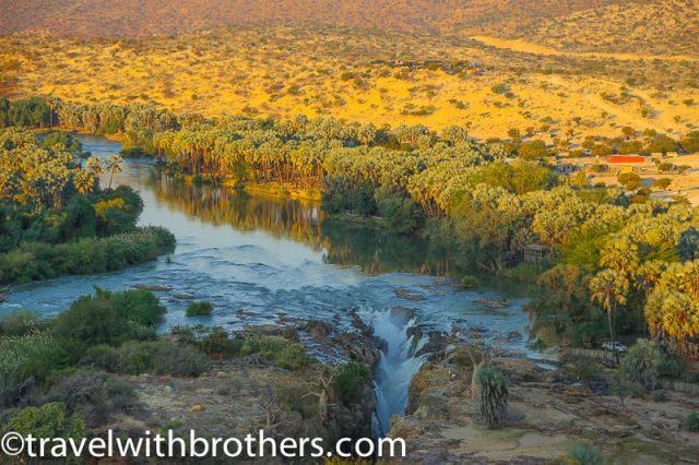 Namibia, Kunene region - stunning sunset on Epupa Falls