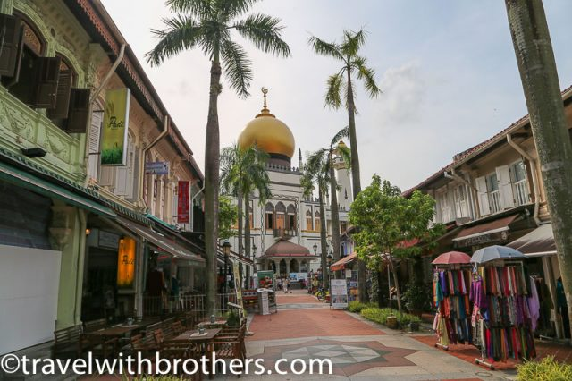 Bussorah Street and the Sultan Mosque, Singapore