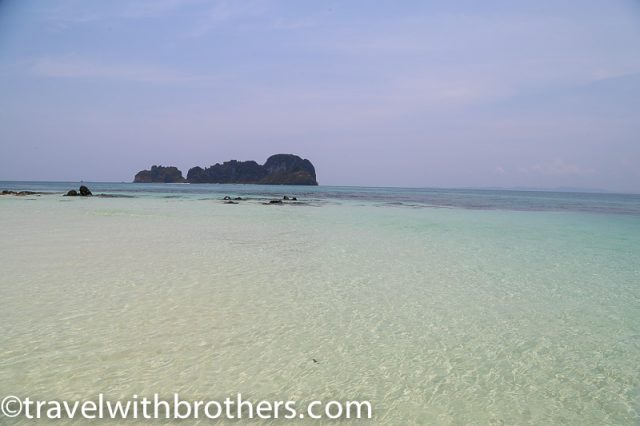 Thailand, Bamboo island sea - In the long distance is Mosquito Island