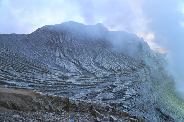 The rim of Ijen Volcano, Java