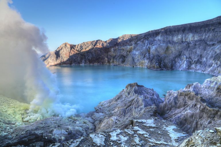 Ijen volcano, indonesia
