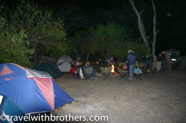 Camping at Xakanaka, Moremi Reserve