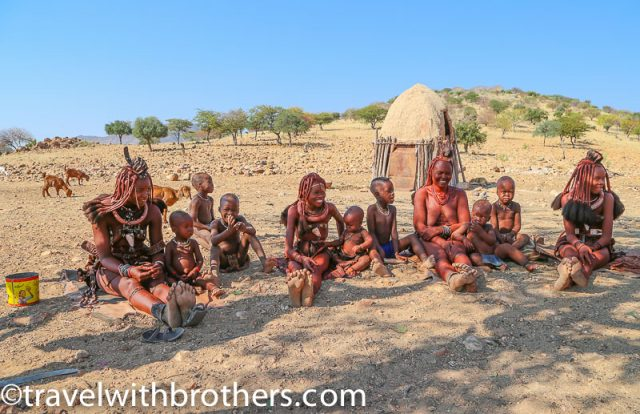 Namibia, Kunene region - Women and Himba kids
