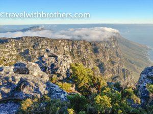 la vista dalla Table Mountain