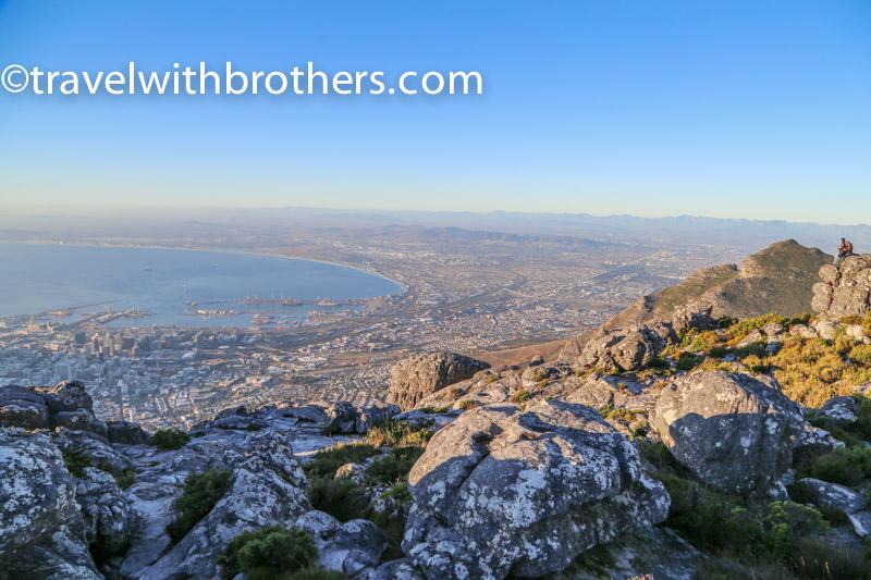 veduta su Città del Capo dalla Table Mountain