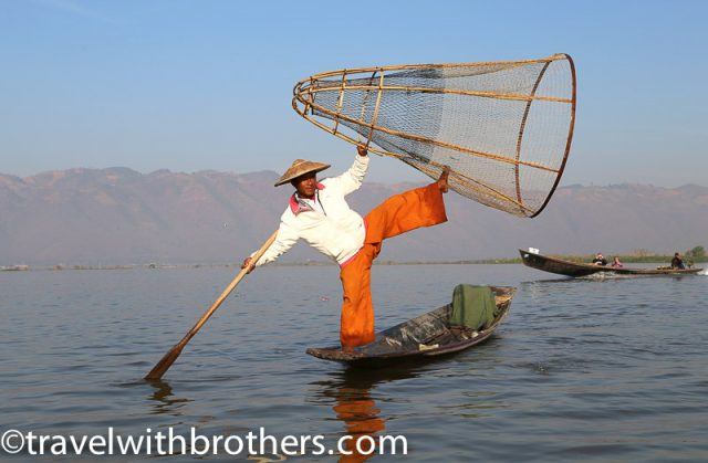 Myanmar, Intha Fisherman on Inle Lake