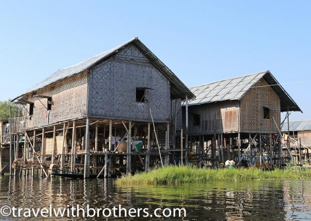 Myanmar, Stilt Houses on Inle Lake