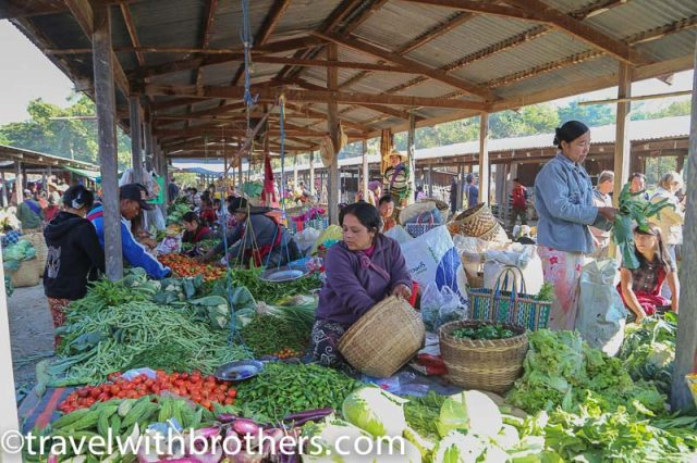 Myanmar, a local market on the shores of Inle Lake