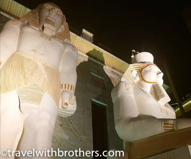 Dubai, the Egyptian theme of Wafi Mall