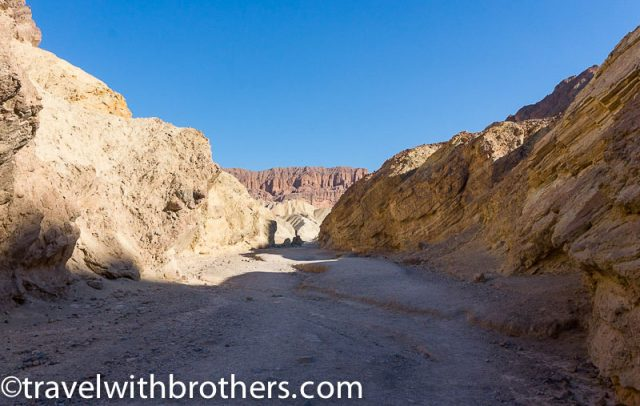 Death Valley - Golden canyon and the Red Cathedral