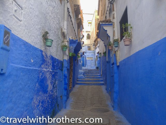 Street view in Chefchaouen, Morocco