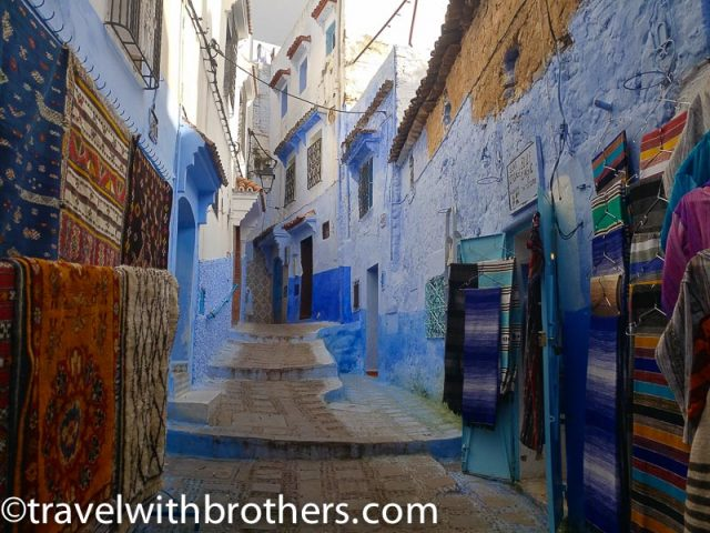 Chefchaouen, carpets shops in the Medina