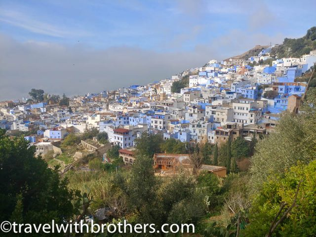 Chefchaouen, panoramic view of the Medina