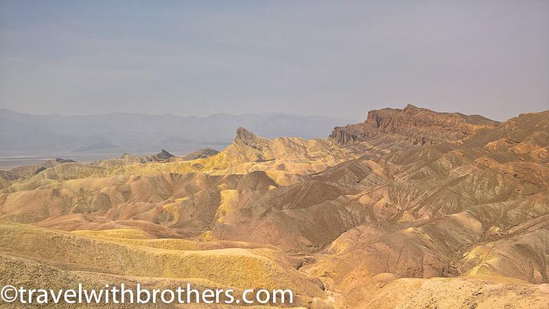 Death Valley, the wonderful view from Zabriskie point