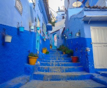 Morocco, the blue pearl Chefchaouen and its architecture