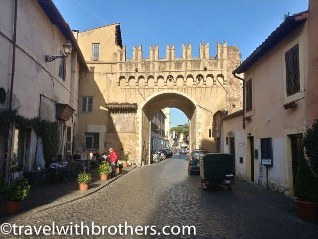 Rome, Trastevere - Porta Settimiana