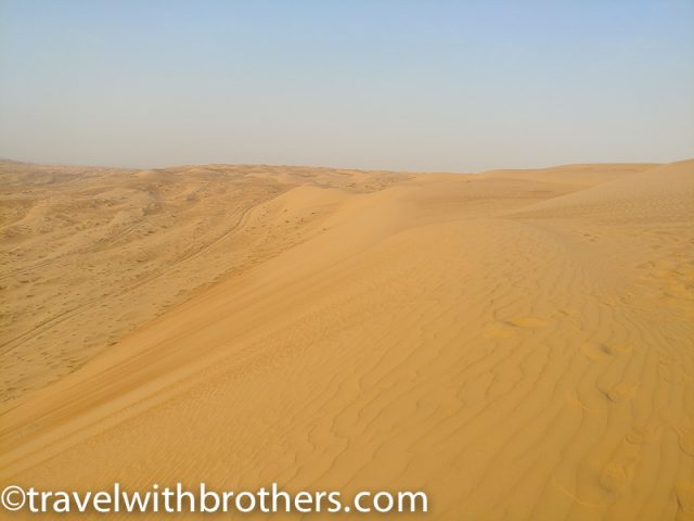 a view on the vast desert, Wahiba Sands Dunes