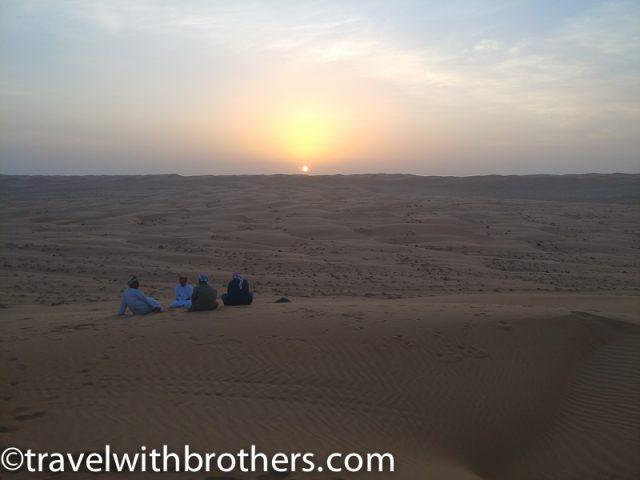 enjoying the sunset, Wahiba Sands Dunes