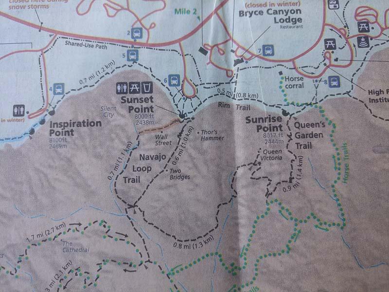 Queens / navajo loop combination trail