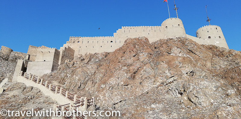 Muscat, the imposing Mutrah Fort