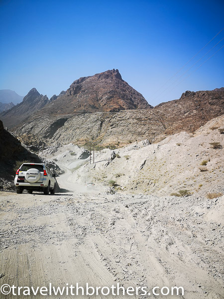 Oman, the first part of the dirt road in the Wadi Bani Awf