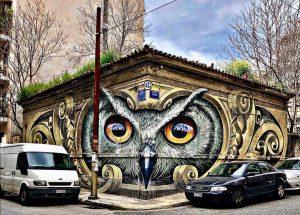 Athens street art - Metaxourgeio neighborhood