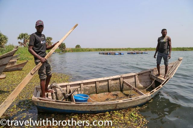 Fishermen at Butiaba village, Uganda