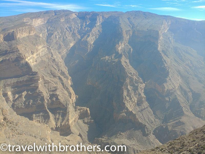 view from Jebel Shams plateau, Oman