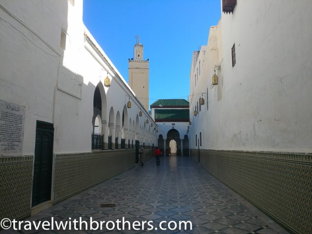 Moulay Idriss, entrance of the Mausoleum