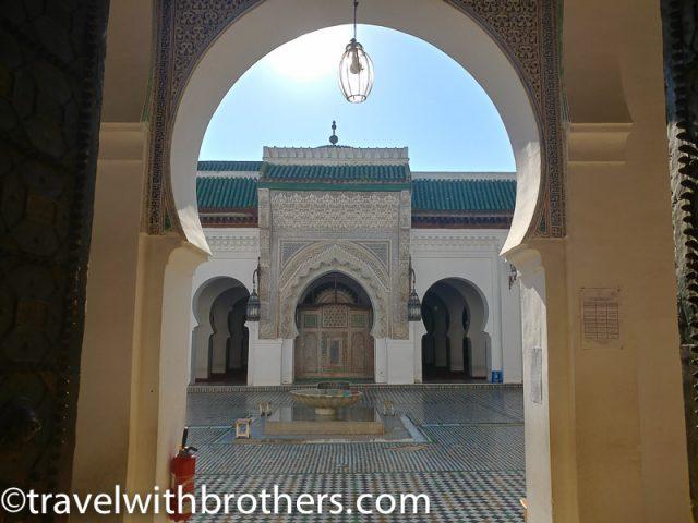 Fes, the entrance of Al Karaouine Mosque