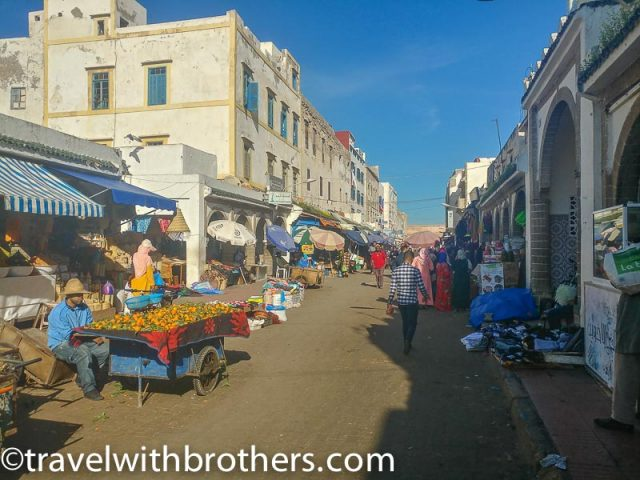 Essaouira, the busy Avenue d'Istiqlal