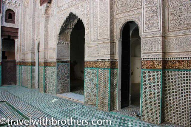 Meknes, Bou Inania Medersa courtyard