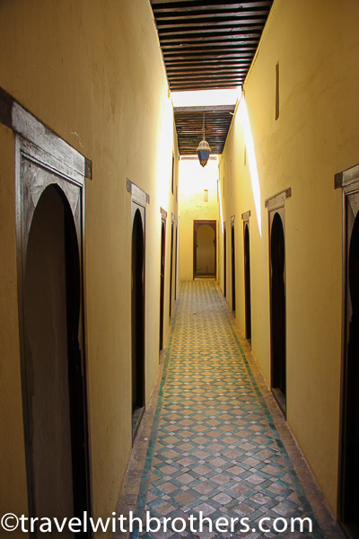 Meknes, Cells on the first floor at Bou Inania Medersa -