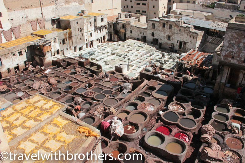 Fes, the picturesque old tanneries