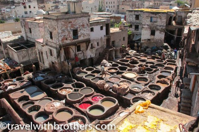 Fes, the colorful tanks of the tanneries