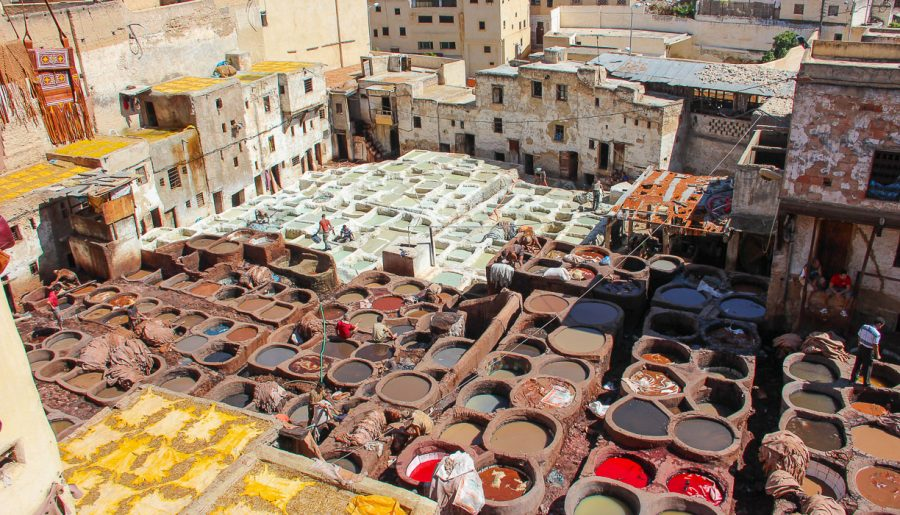 Morocco, Fes: the picturesque tanners' quarter