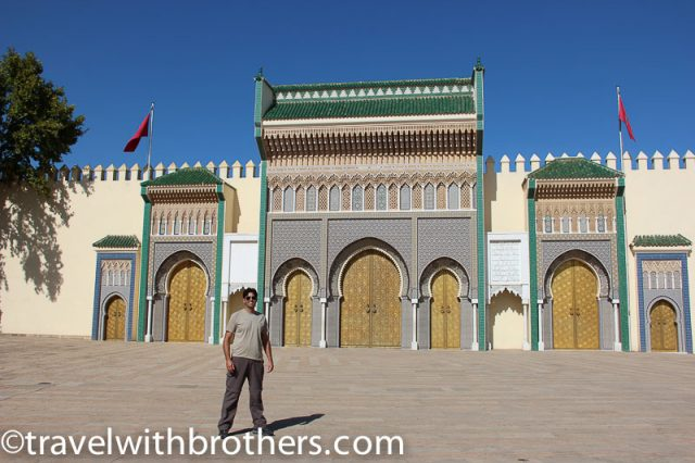 Fes, the golden doors of the Royal Palace