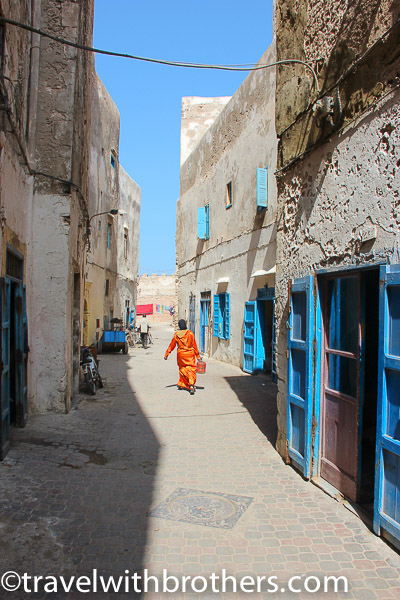 Essaouira, a narrow alley in the Mellah