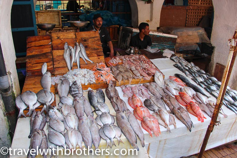 Essaouira, a fish market stall