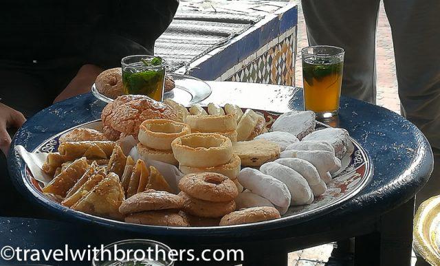 Rabat, moroccan tasty pastries