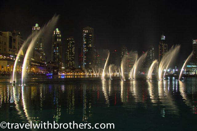 UAE, Dubai fountain light show