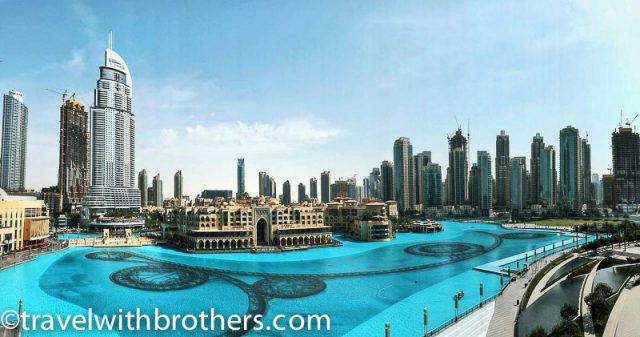 Dubai, view from the terrace of EMAAR building